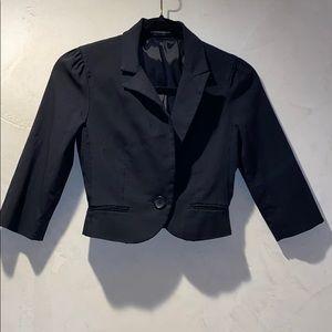 Black crop 3/4 length blazer